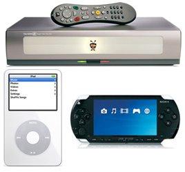 Tivo, iPod, and PSP