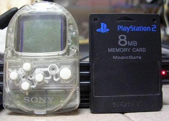 PocketStation and PS2 Memory Card