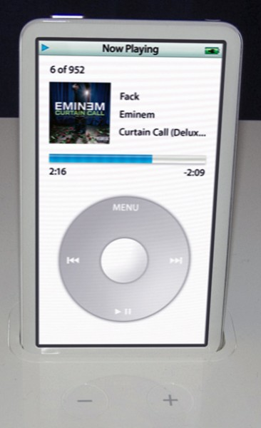 Full Screen iPod In Dock