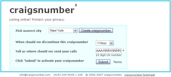 CraigsNumber