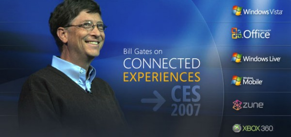 Bill Gates Microsoft At CES 2007