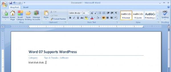 Word 07 Supports WordPress