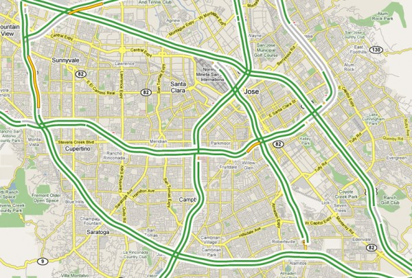 Google Maps: Traffic Data