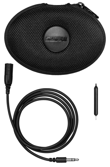 Shure SE210 Earphones Case And Cord