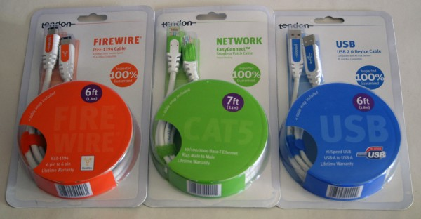 Tendon Cables - Firewire - Cat 5 - USB