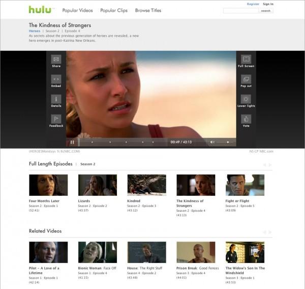 Hulu - Player Page