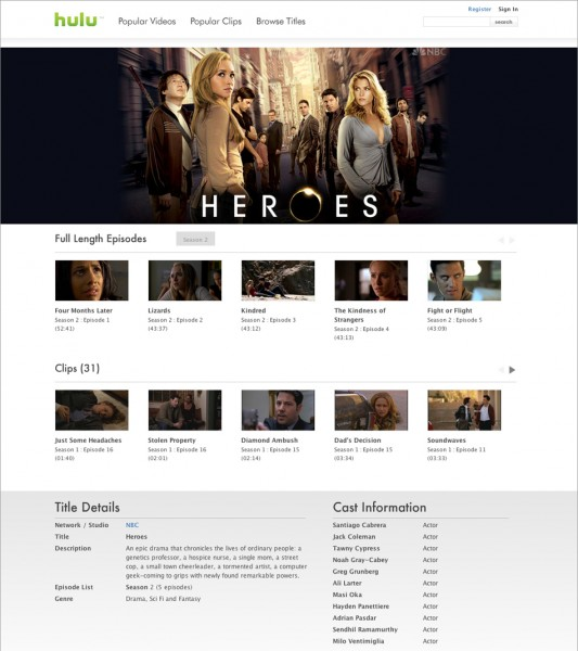 Hulu - Show Page