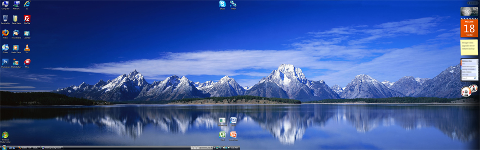 dual monitor hd wallpaper vista screen 3360x1050