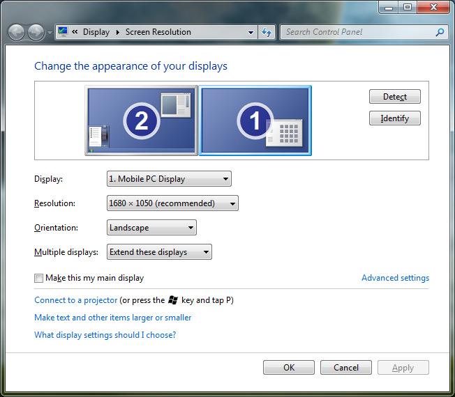 Setup Dual Monitors In Windows 7 Skatter
