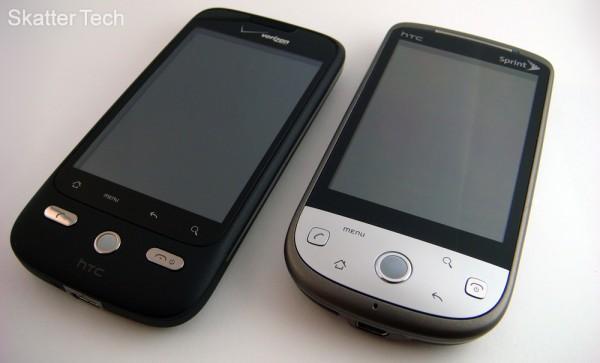 Droid Eris vs. HTC Hero - Front
