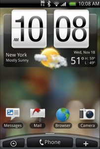 HTC Droid Eris Interface