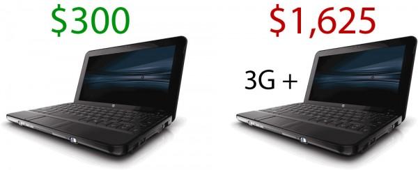 Netbook vs. Netbook w/ 3G