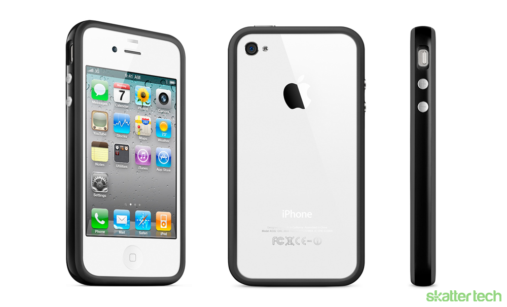 Apple gives out free cases fixes iphone 4 skatter for Grove iphone 4 case
