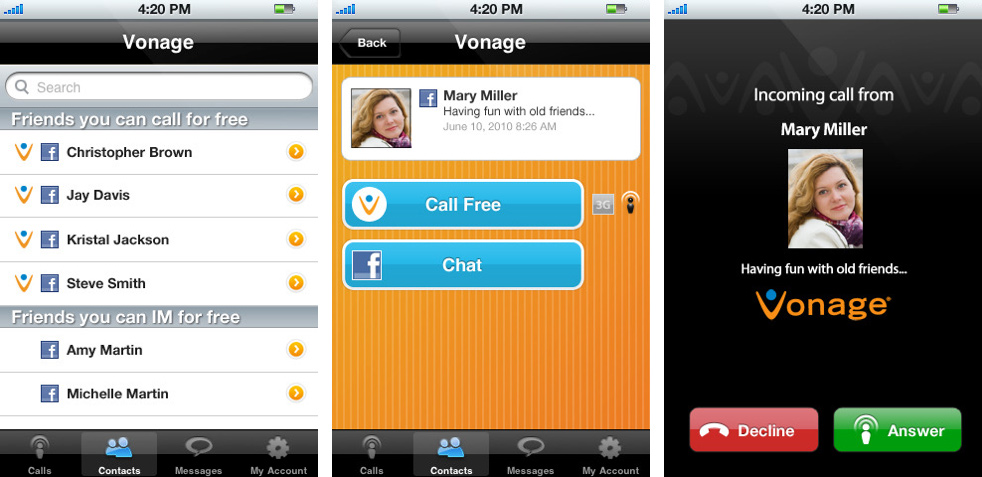 Vonage Offers Free VoIP Calls For Facebook Users   Skatter