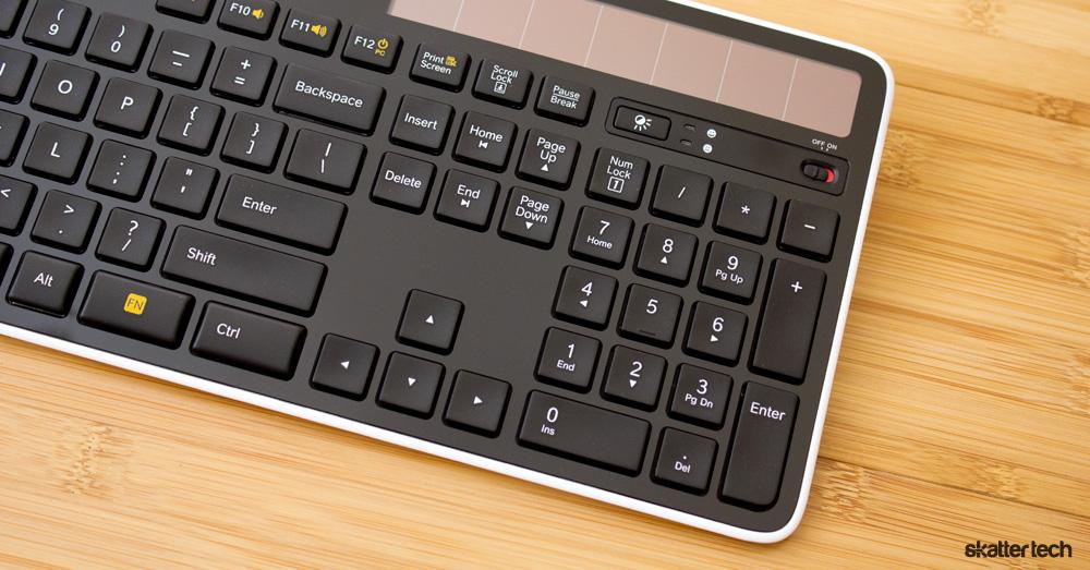Logitech Solar Wireless Keyboard K750 Review Skatter