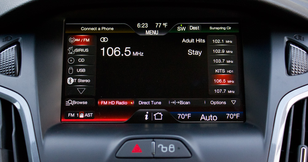 Ford Focus 2012: SYNC With MyFord Touch (Review) | Skatter