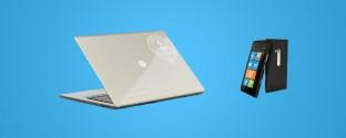 HP Folio and Lumia 800